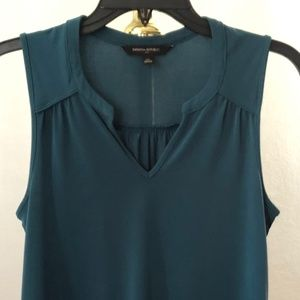 Banana Republic Green Sleeveless Blouse